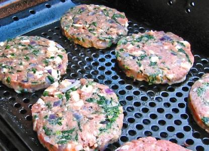 Cookin' Greens Chicken or Turkey Spanakopita Burgers