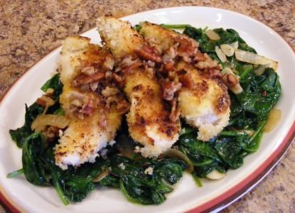 Cookin' Greens Garlicky Breaded Chicken