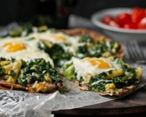 Cookin' Greens Breakfast Pizza