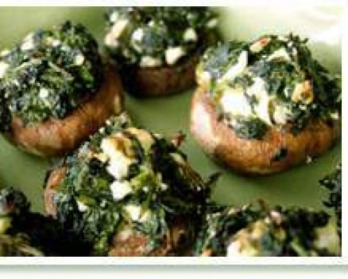 Cookin' Greens Stuffed Mushrooms