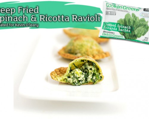 Cookin' Greens Deep Fried Spinach Ravioli