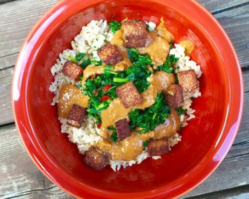 Cookin'  Greens Rice Bowl