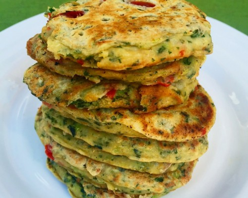 Cookin' Greens Savory Pancakes