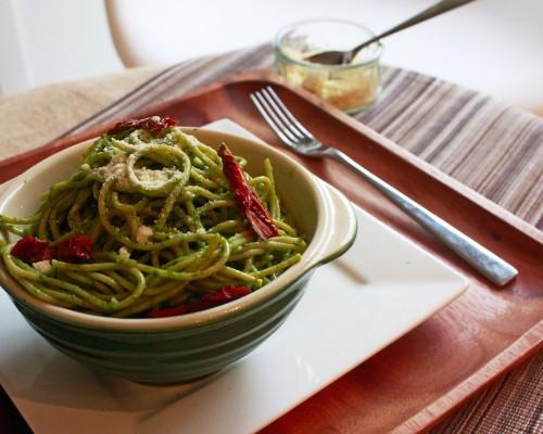 Cookin' Greens Garden Pesto Pasta