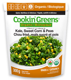 Cookin'Greens Organic Kale, Sweet Corn & Peas