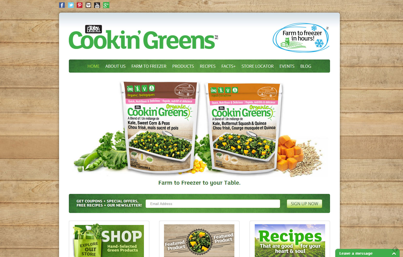 Cookin Greens Launches New Website