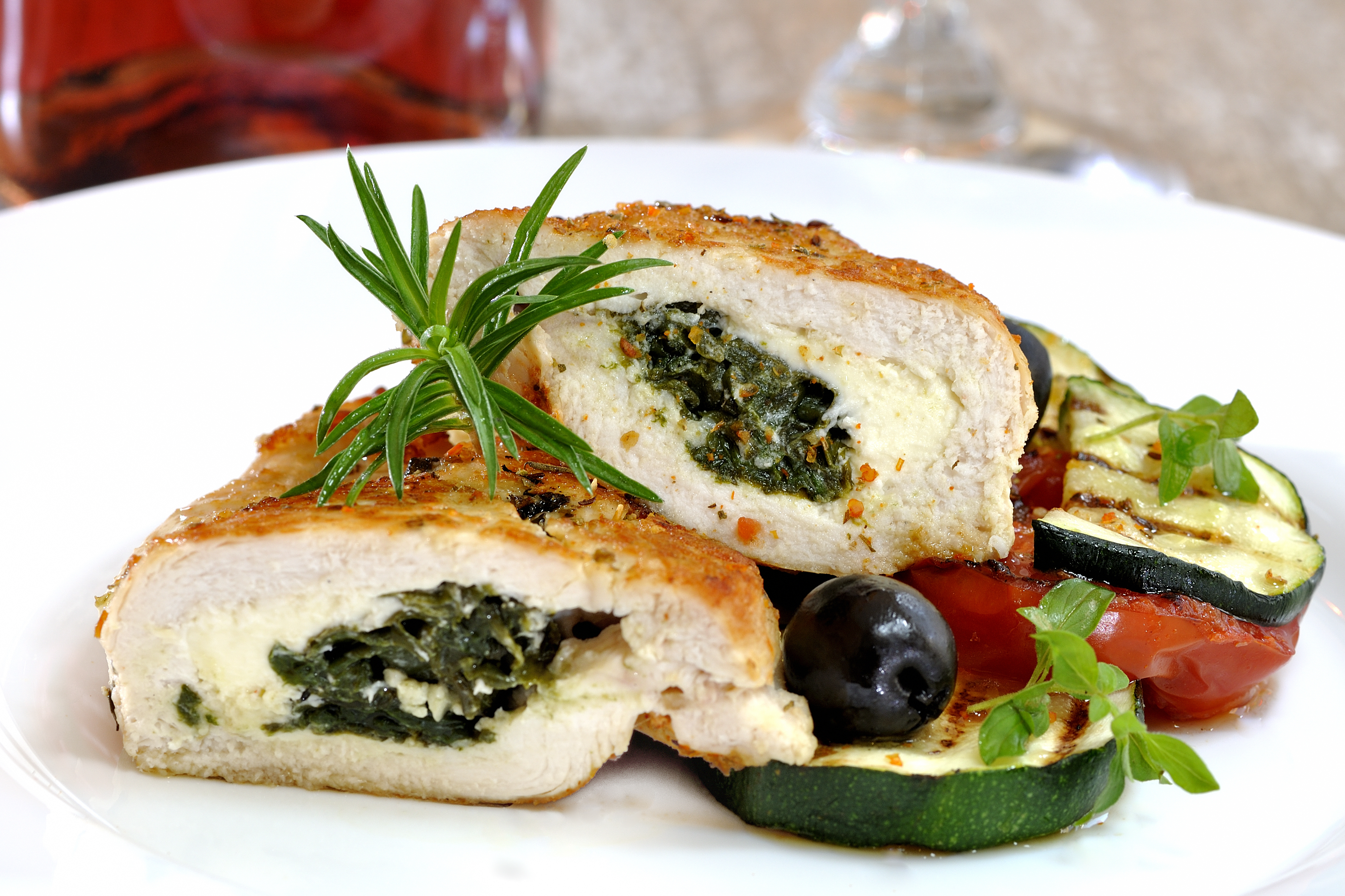 Cookin' Greens & Cheese Stuffed Chicken