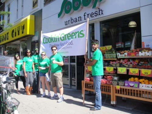 The crew in front of  Sobey's Urban Fresh