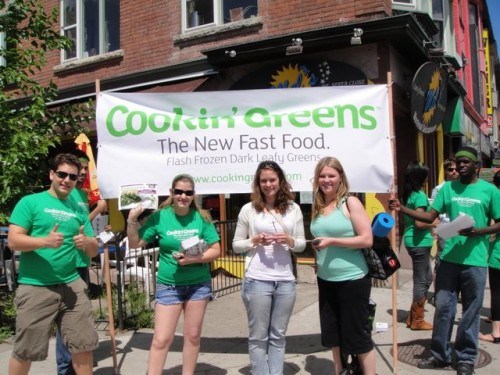 Break out the banner,  the Cookin' Greens  Summer Street Team  is in the Annex.