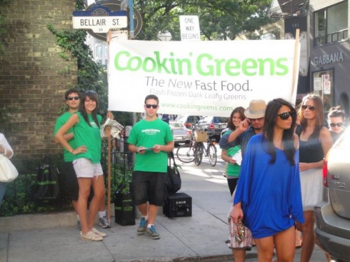 Cookin' Greens team rubbing elbows with  the big wigs at TIFF  at Yorkville and Bellair