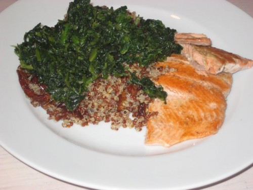 Cookin' Greens with Salmon & Quinoa