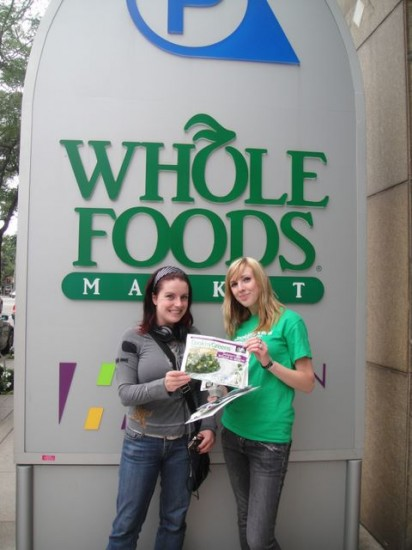 In front of whole foods where we are now available