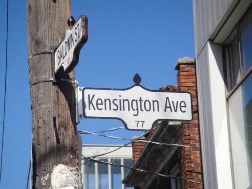 Kensington Street sign