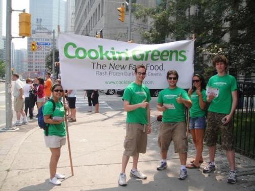 The Cookin' Greens™ Summer Street Team  arrives at Queen Street