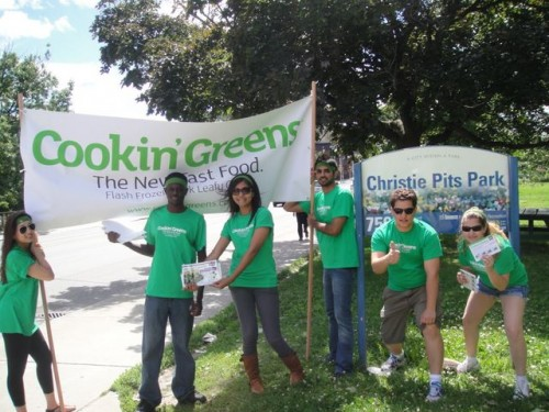 Showing some love  for the Greens at  Christie Pits Park