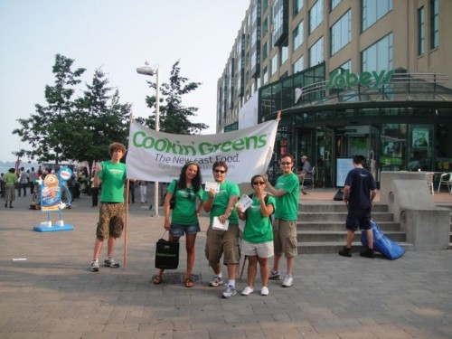 The Cookin' Greens Summer Street Team in front of Sobeys Urban Fresh at Harbourfront.