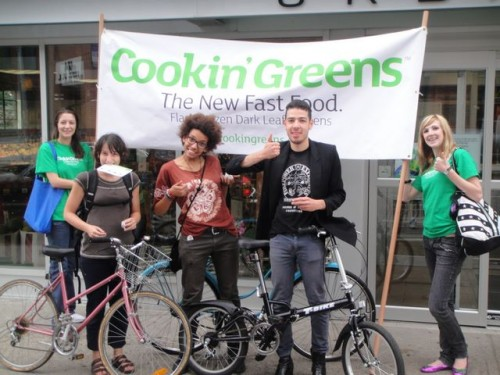 Some new young  members of the  Cookin' Greens crew