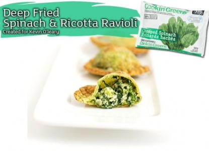 Cookin' Greens Deep Fried Spinach Ravioli