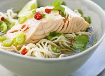 Cookin' Greens Thai Salmon-Ramen Bake