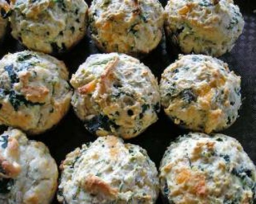 Cookin' Greens Spinach Kale and Cheddar Biscuits
