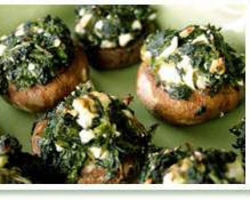 Cookin' Greens Stuffed Mushrooms