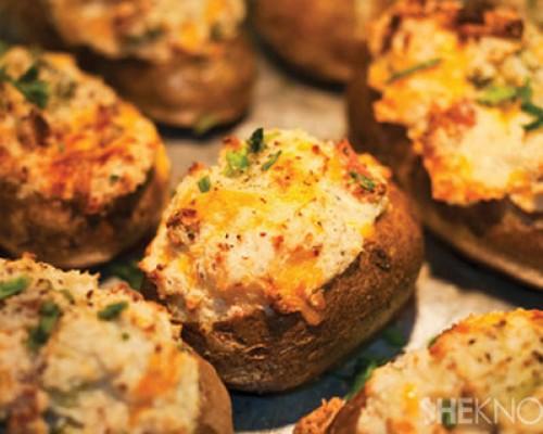 Cookin' Greens Stuffed Baked Potato