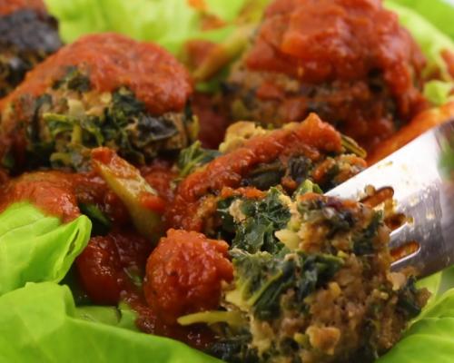Cookin' Greens Turkey Kale Meatballs
