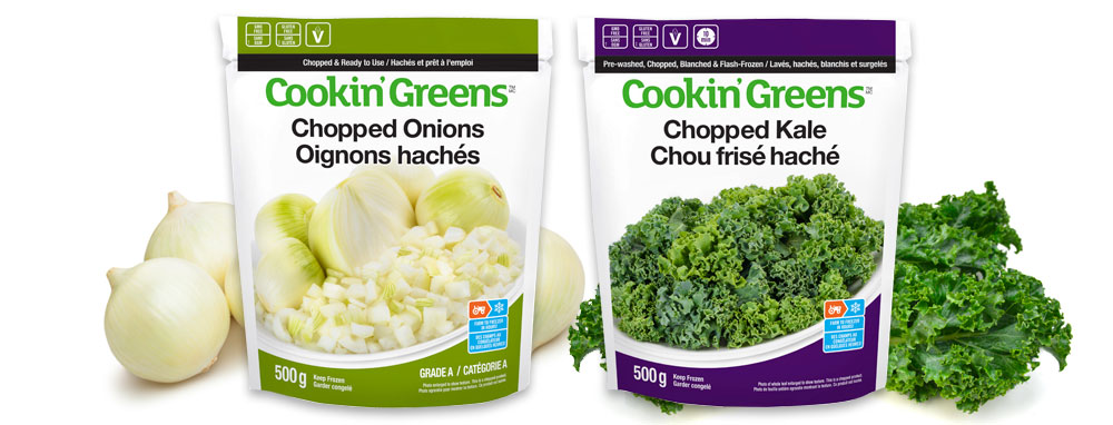Cookin'Greens Chopped Onions / Chopped Kale
